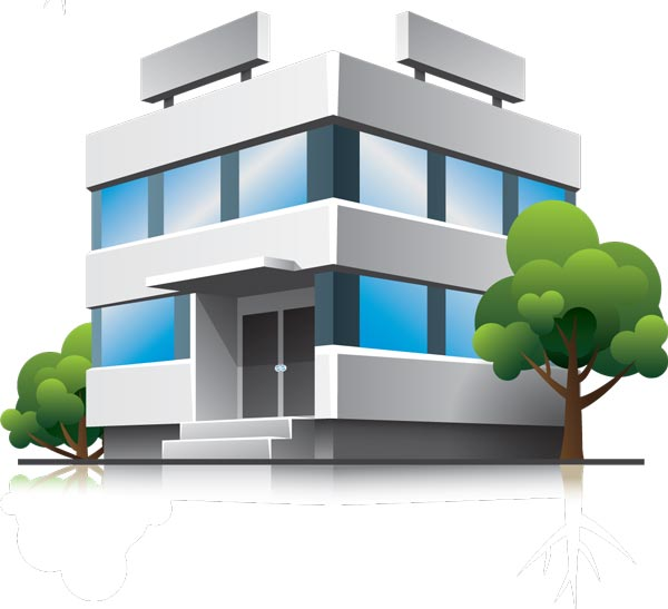 3d houses and office buildings vectors for Free home builder